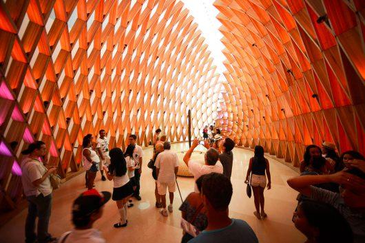 Vista de dentro do Museu do Amanhã