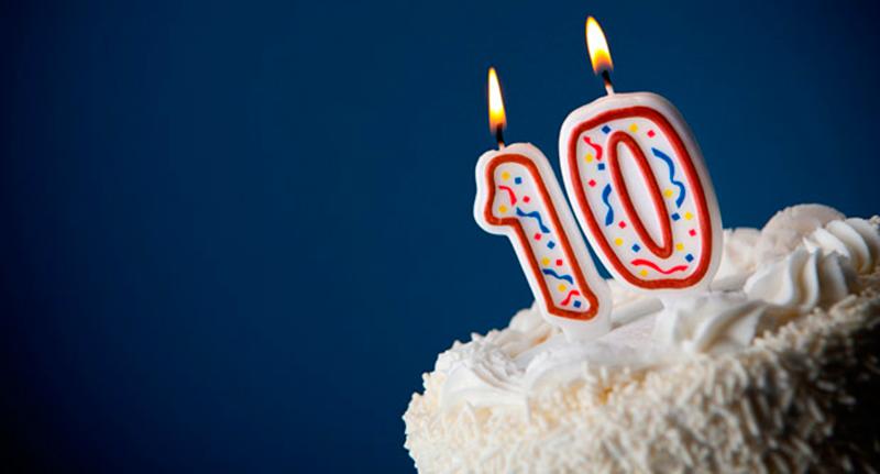 Data especial - 10 anos de blog!