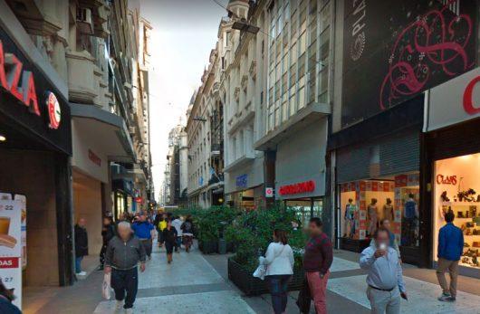 Vista da Calle Florida em Buenos Aires
