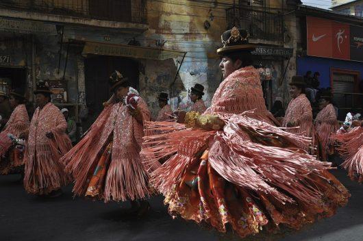 Festival em La Paz na Bolívia