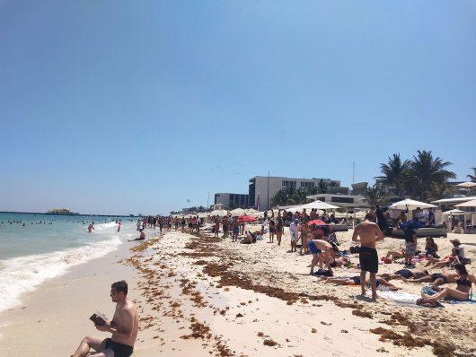 Faixa de areia em Playa del Carmen