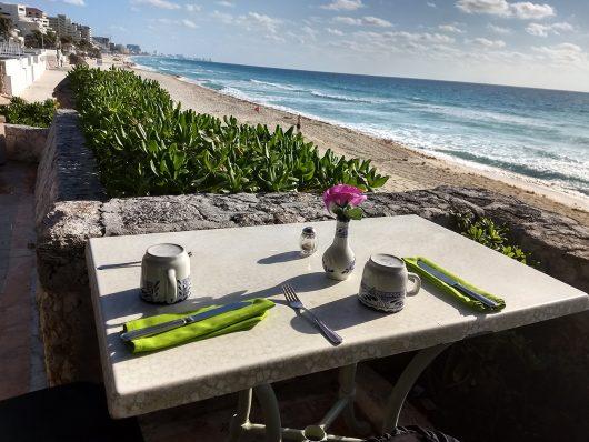Vista do restaurante do Royal Solaris Cancun