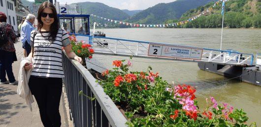 Deck de entrada do cruzeiro no Rio Reno