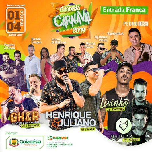 Programação Carnaval Goianésia 2019