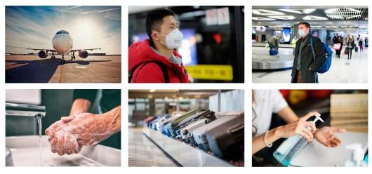 Proteção aeroportos contra o coronavírus