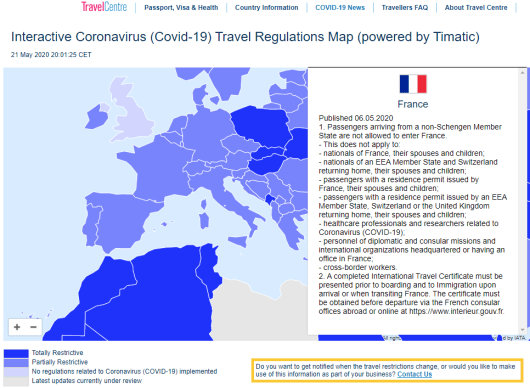 Situação dos aeroportos na França