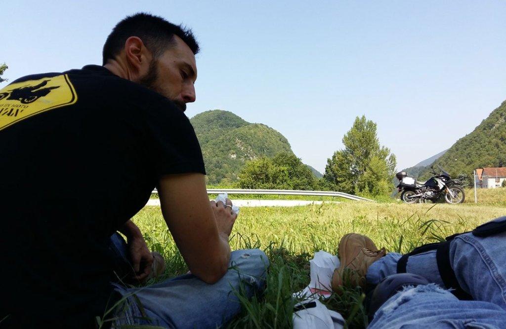 Descanso en el viaje