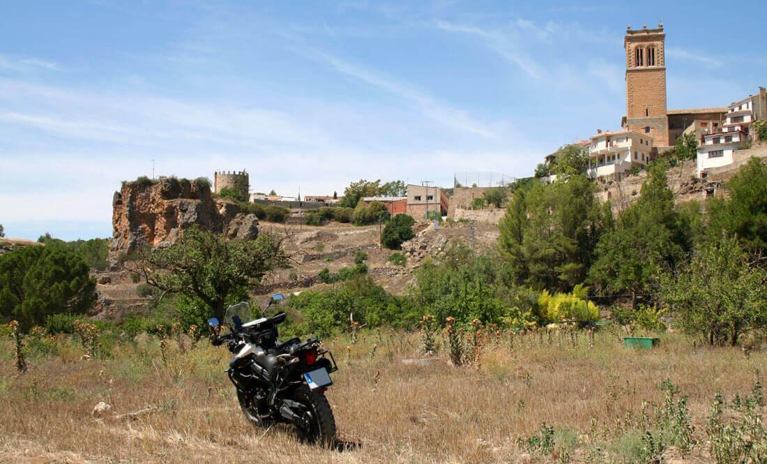 Priego de Cuenca en Triumph Tiger 800