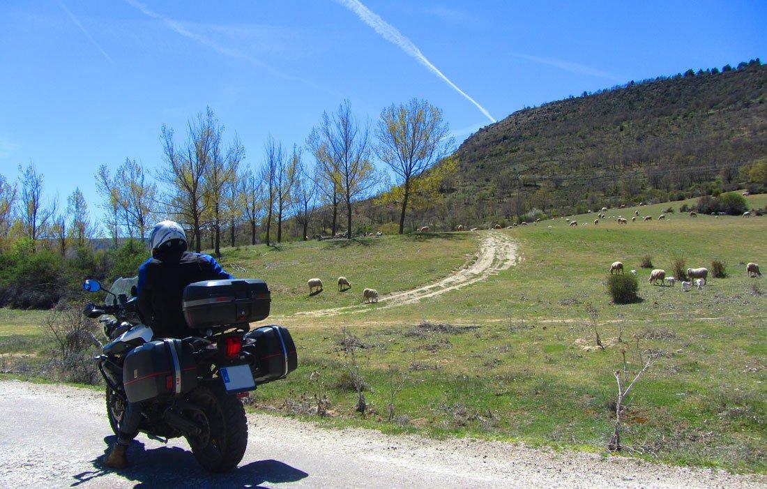 En moto en algún lugar de Teruel