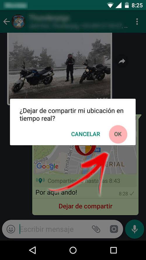 Compartir ubicación en whatsapp en tiempo real
