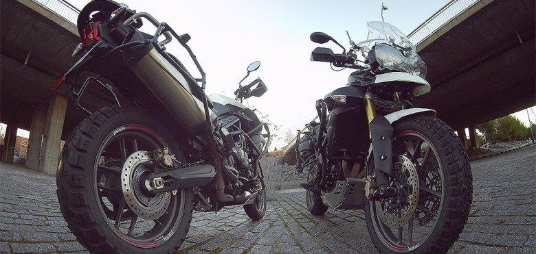 Tiger 800 Heidenau K60 Scout con 20.000 km