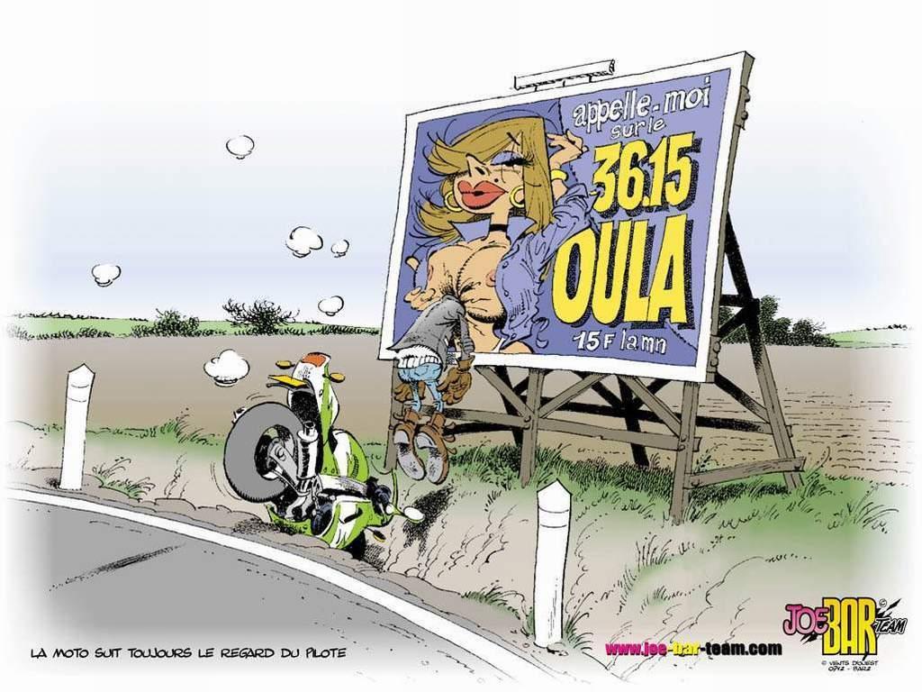 La moto siempre sigue la mirada del piloto