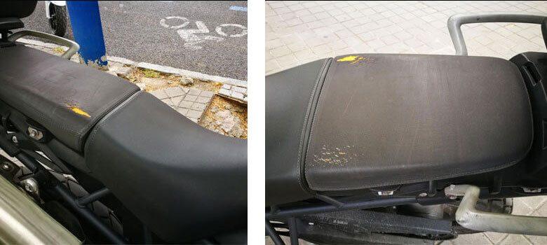 asiento roto de tiger 800