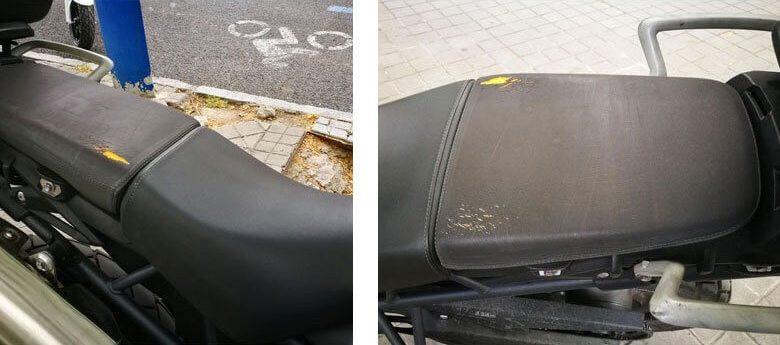 Reparar el asiento de la moto