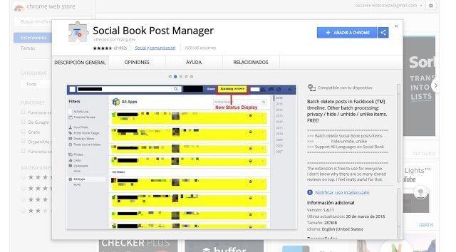 Como borrar varios o todos tus Posts en Facebook de una vez