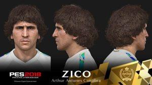Zico é o novo embaixador e jogador lendário do PES 2018