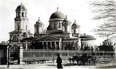 Александро-Невский собор в Симферополе на открытке начала XX века.