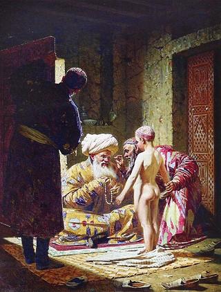 В.В. Верещагин. Продажа ребенка-невольника. Холст, масло. 1872 год.