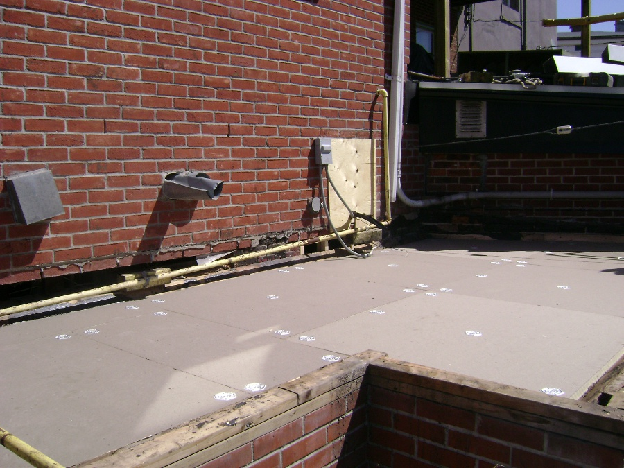 TPO Flat Roof installation
