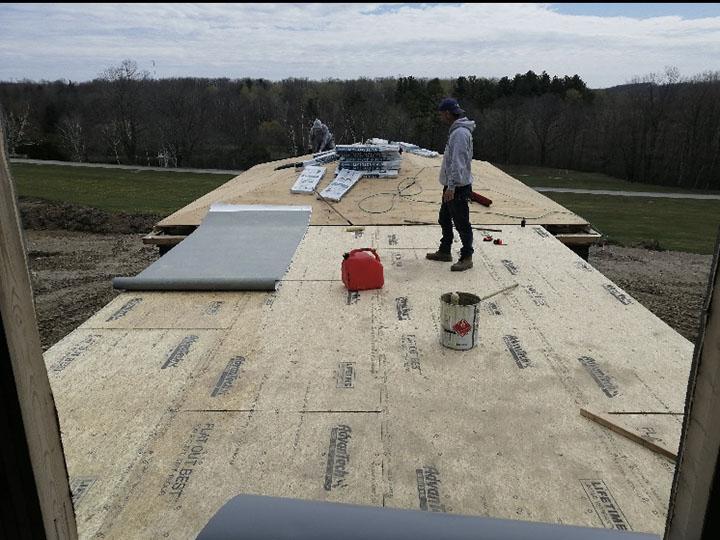 TPO Flat Roof installation - prep