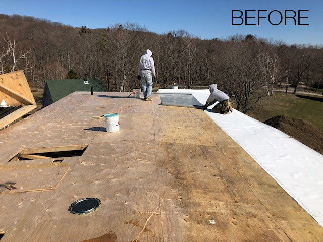 TPO Flat Roof installation - before