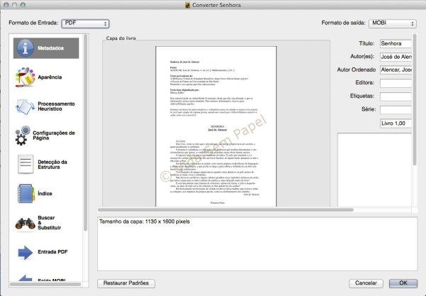 Como converter arquivos PDF no Calibre 02