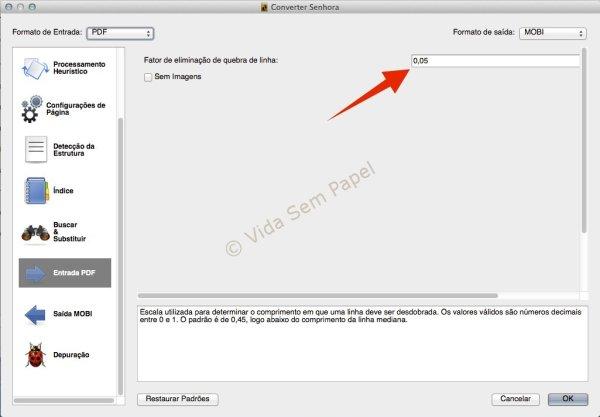 Como converter arquivos PDF no Calibre 09
