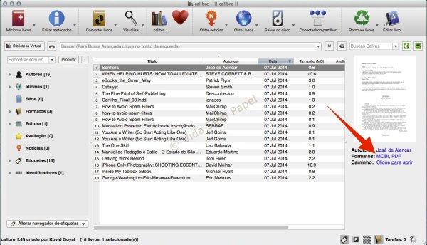 Como converter arquivos PDF no Calibre 12