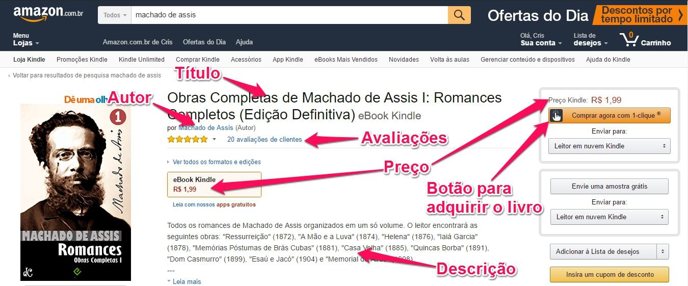 1d1e8fe83 Como comprar e ler um livro digital (ebook) para Kindle da Amazon ...