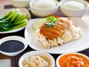 Fotografia do tradicional Haianese Chicken Rice