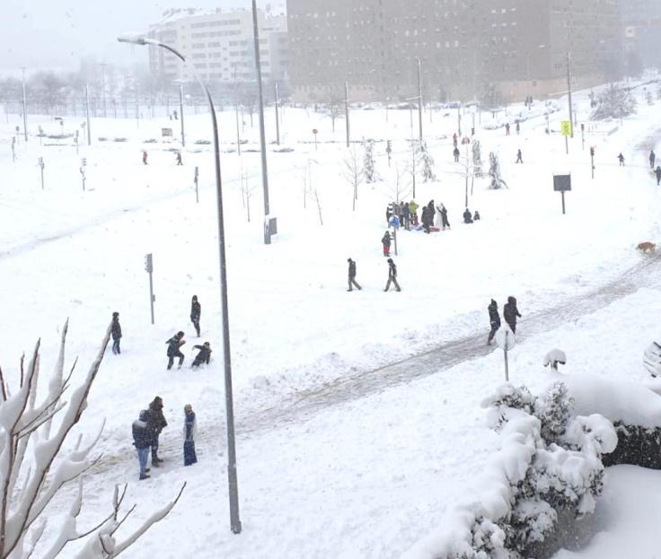 Madrid coberta de branco