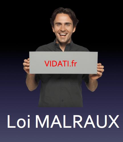 loi malraux VIDATI.fr