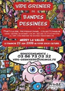 Affiche exposition Vide Grenier BD 2009 - Illustration Patrick Maniez