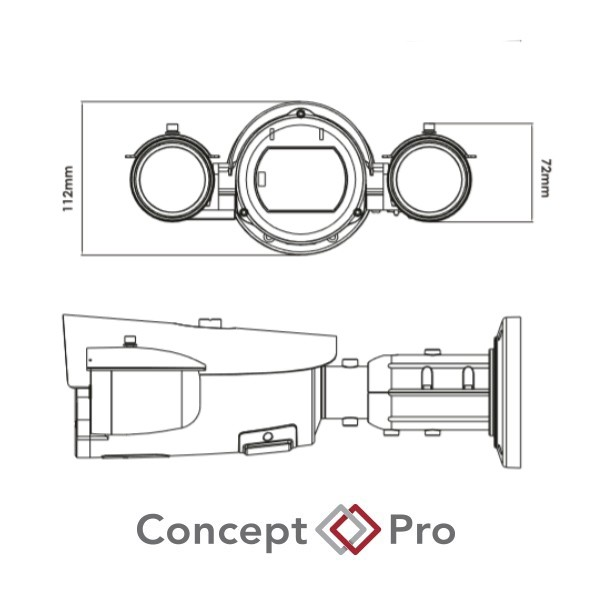 Concept Pro 2MP AHD 10x Motorised Zoom Bullet Camera