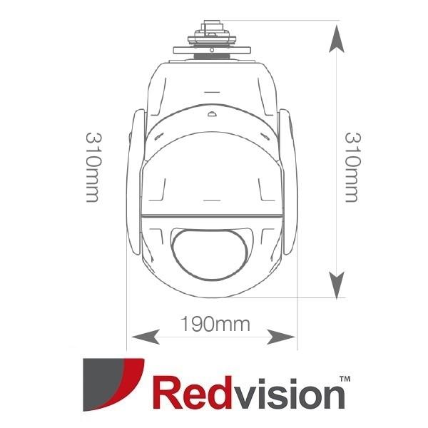 X-Series™ Rugged IP HD 2MP 30x PTZ with Wiper CCTV Camera