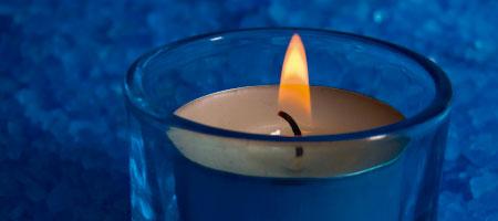 Significado de las velas azules