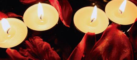 Significado de las velas blancas