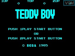 Teddy Boy For Sega Master System The Video Games Museum