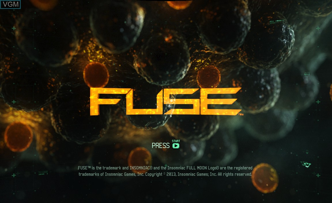 hight resolution of title screen of the game fuse on microsoft xbox 360