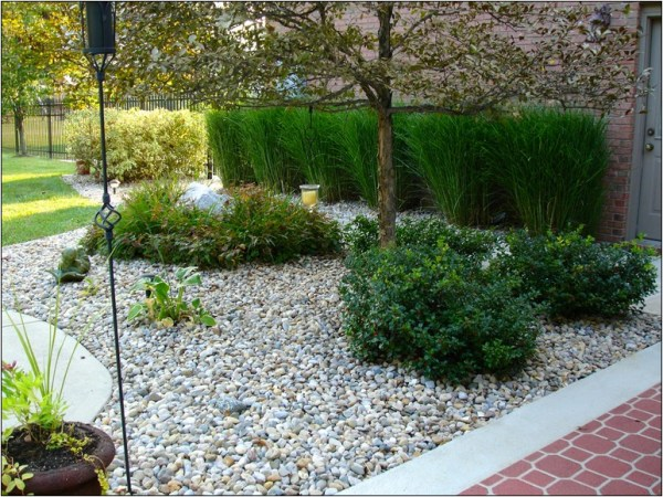 black river rock landscaping stones