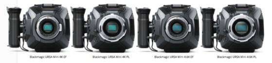 La gamme Blackmagic URSA Mini