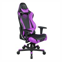 DX Racer RJ0/NV/ZERO Racing Bucket Seat Office Chair Gaming Chair PVC Ergonomic Computer Chair eSports Desk Chair(Black/Violet)