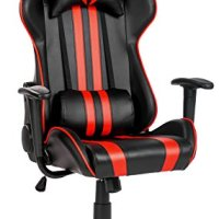 Merax® Racing Style Gaming Chair Executive Swivel Leather Computer Office Chair, Black and Red