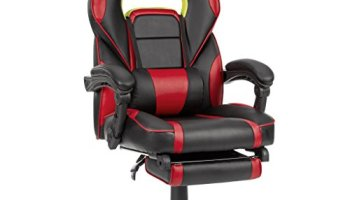 LANGRIA LROC 7243GY High Back Racing Style Gaming Chair Faux