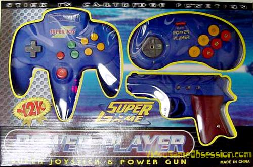 Power Player Super Joystick Amp Power Gun Famiclone