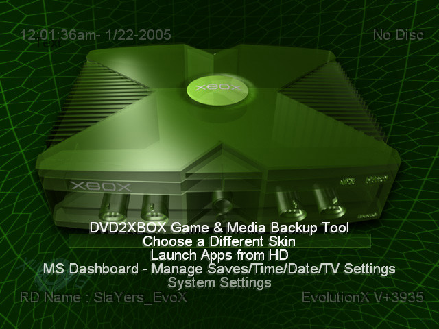 Xbox Dashboards  Video Game Obsession c 1996present