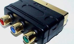 Component to SCART adaptor