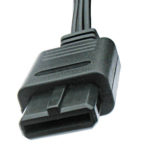 A/V connector used on the SNES, N64 and Gamecube.