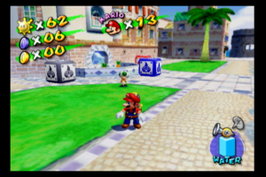 Mario Sunshine run with the linedoubler. There's some flicker and saw-tooth edges but overall it's quite playable.