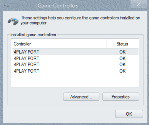 The 4-Play adapter in Windows.